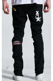Embellish Paint N' Roses Standard Denim (Jet Black)