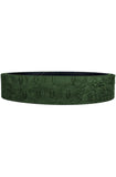 Mint Crocodile Leather Belt (Olive)
