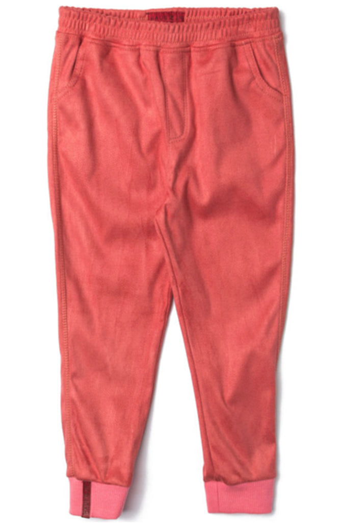 Haus of Jr Newton Suede Coral Sweat Pants