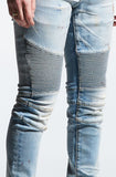 Embellish Maddux Biker Denim (Light Indigo)