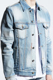 Embellish Maddux Denim Jacket (Light Indigo)