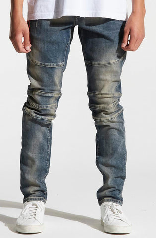 Crysp Pacific Denim (Light Distressed Indigo)