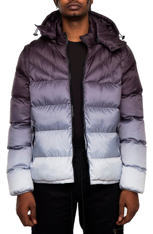 EPTM Gradient Puff Jacket (Black/White)