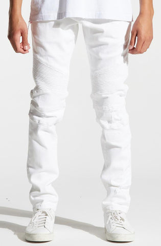 Crysp Skywalker Medium Blue Bleach Denim