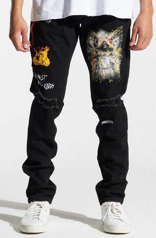 Crysp Skywalker Biker Denim (Acid)