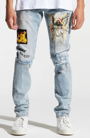 Crysp Skywalker Biker Denim (White)