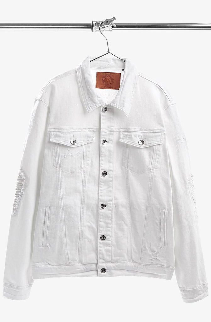 Iro-Ochi White Yume Denim Jacket
