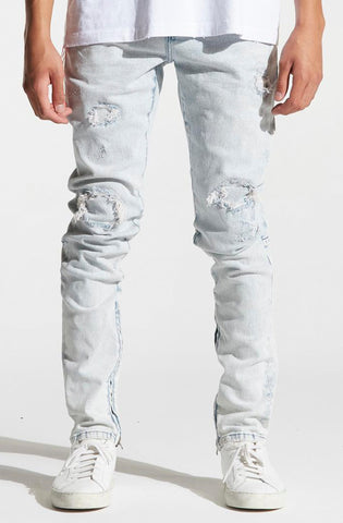 Crysp Pacific Denim (Stone Wash Blue Ripped)