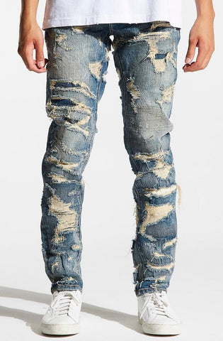 Embellish Houten Biker Denim (Mid Blue)