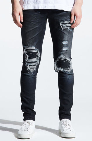 Embellish Clemente Rip and Repair Denim (Charcoal)