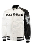 Starter Raiders Two-Tone Black & White Full Snap Jacket