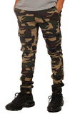 Eight & Nine Strapped Up Slim Vintage Pants (Green Camo)