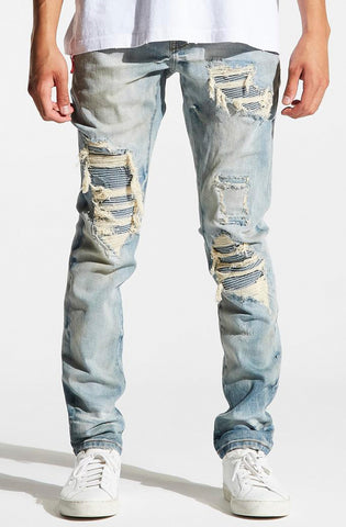 Embellish Mathewson Rip and Repair Denim (Blue Camo)