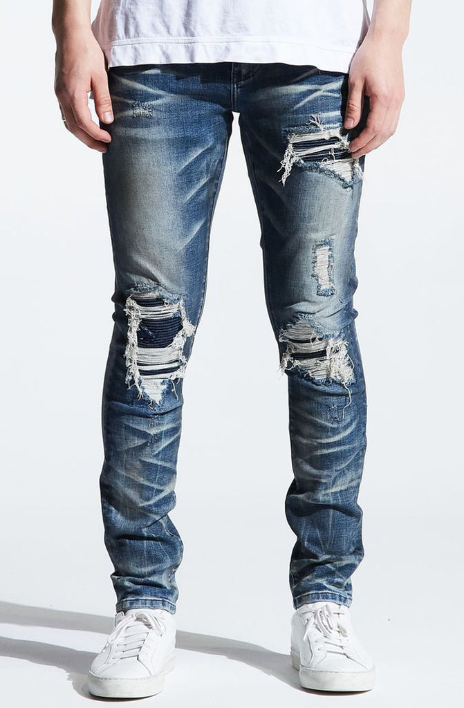 Embellish Griffey Rip and Repair Denim (Dark Vintage)