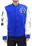 Pro Standard Golden State Warriors Blended Logo Varsity Jacket