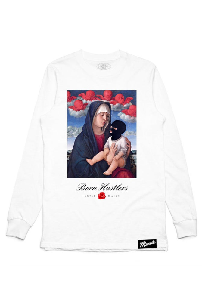 Hasta Muerte Born Hustlers Third Eye Long Sleeve Tee (White)
