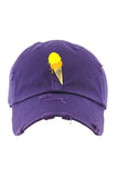 Planet Of The Grapes Purple Ice Cream Dad Hat (Yellow/Orange)