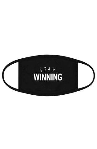 Stay Winning Original Logo Black Elongated Scoop Tee