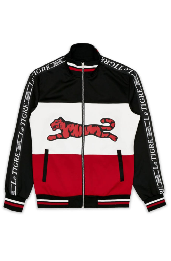 Le Tigre Tri Color Track Jacket (Black)