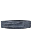 Mint Lizard Leather Belt (Grey)