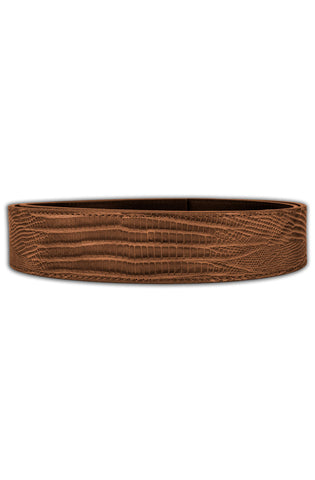 Mint Lizard Leather Belt (Tan)