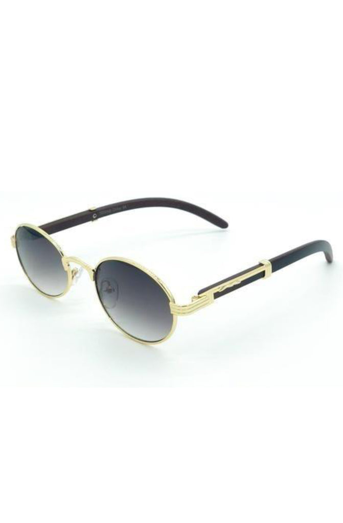 Roial Oval Carter Sunglasses (Gold)