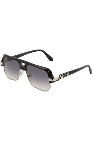 Cazal 672 304 Legends Black Silver Pilot Sunglasses