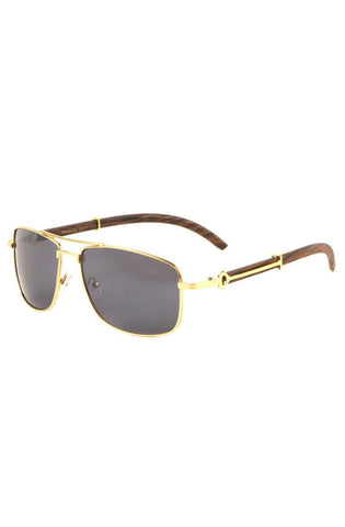 Roial Piloto Wood Sunglasses (Gold)