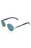 Roial Oval Carter Sunglasses (Silver)