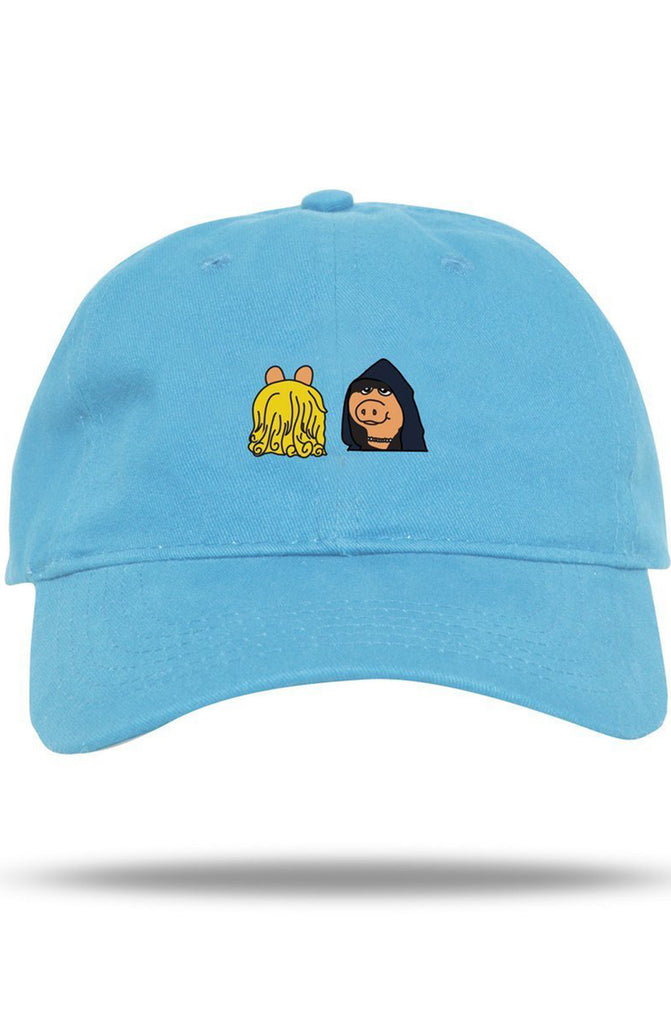 The Meme Teams Evil Miss Piggy Sky Blue Dad Hat