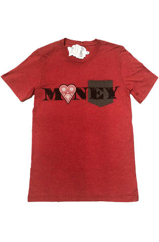 Fly Supply Love Money Red Tee