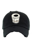 Planet Of The Grapes Black Money Roll Dad Hat (White)