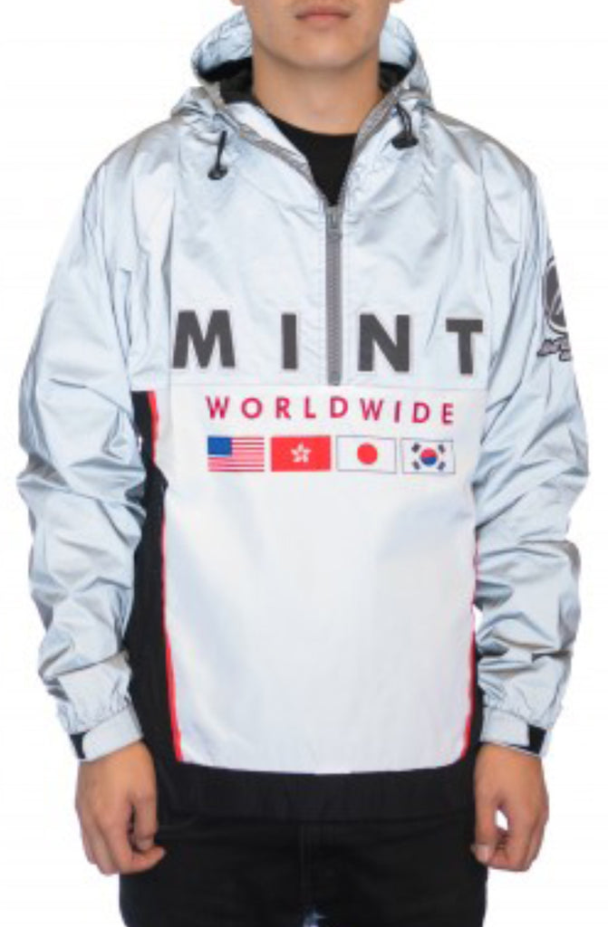 Mint 3M Reflective Silver Anorak