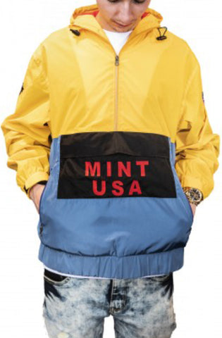 Mint Reflective 3M Snow Beach Windbreaker