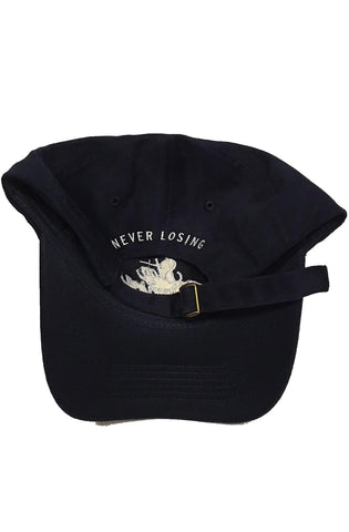 Stay Winning Navy Blue/White Dad Hat