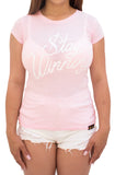 Stay Winning Pink Women's Script Tee