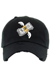 Planet Of The Grapes Flying Money Dad Hat (Black)