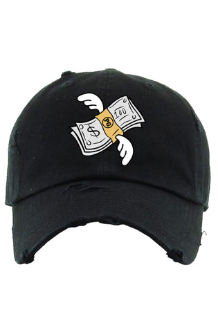 Planet Of The Grapes Flying Money Dad Hat (Carolina)
