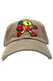 Planet Of The Grapes Pack Man Dad Hat (Tan)