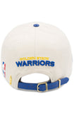 Pro Standard Golden State Warriors Eggshell Team Logo Leather Strap Back