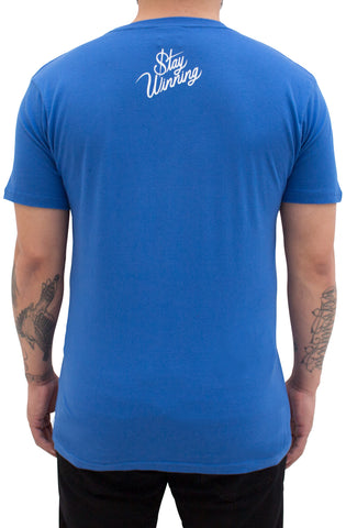 Stay Winning Punch Out Royal Blue Tee