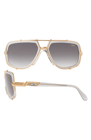 Cazal Sunglasses Model 656-3 White/Gold
