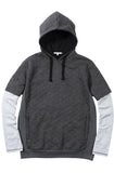 Reason Heather Grey Quilted Double Sleeve Hoodie