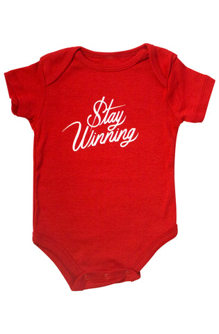 Stay Winning Red Infant Onesie