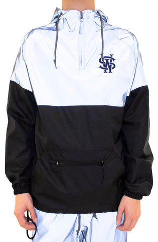 Stay Winning 3M Reflective Windbreaker Pullover Jacket