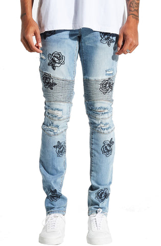 Embellish Dino Biker Denim