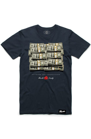 Hasta Muerte Cash Stacks Navy Tee