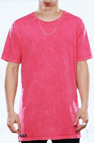Eight And Nine Mini Keys Gym Red Elongated Mineral Wash Tee