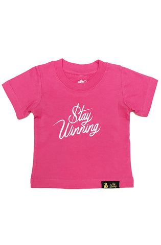 Stay Winning Hot Pink Toddler Tee