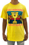 Stay Winning Never Losing Trophy Yellow Tee
